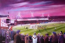 Broomfield Under Lights , Airdrieonians- 20'' x 30'' approx poster print